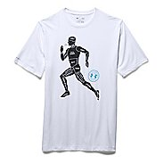 Mens Under Armour Run Graphic Figure T Short Sleeve Technical Tops