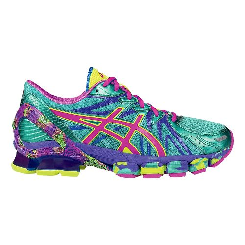 Womens ASICS GEL-Sendai 3 Running Shoe - Aqua/Pink 9