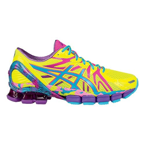 Womens ASICS GEL-Sendai 3 Running Shoe - Yellow/Pink 7.5