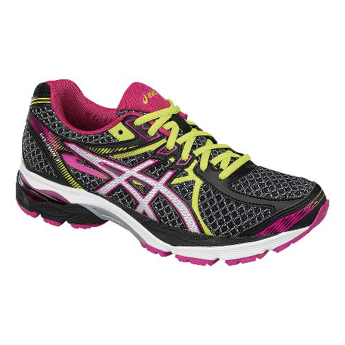 Womens ASICS GEL-Flux 3 Running Shoe - Black/Pink 7