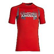 Kids Under Armour Boys HeatGear Armour Up Digi Fitted Shirt Short Sleeve Technical Tops
