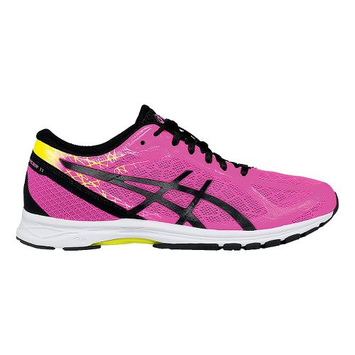 Womens ASICS GEL-DS Racer 11 Racing Shoe - Pink/Yellow 5.5
