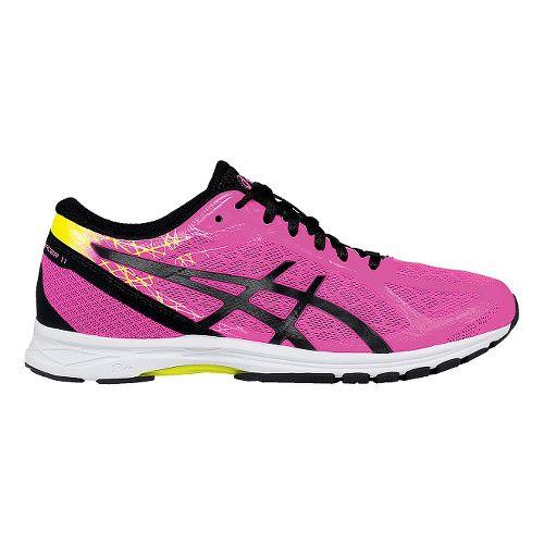 Womens ASICS GEL-DS Racer 11 Racing Shoe - Pink/Yellow 9.5