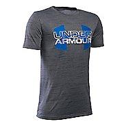 Under Armour Boys Big Logo Hybrid T Short Sleeve Technical Tops