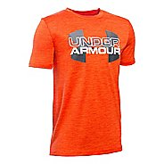 Under Armour Boys Big Logo Hybrid T Short Sleeve Technical Tops