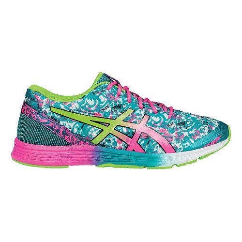 Womens ASICS GEL-Hyper Tri 2 Running Shoe - Blue/Green 9.5