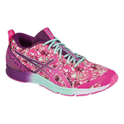 Womens ASICS GEL-Hyper Tri 2 Running Shoe - Pink/Mint 7.5