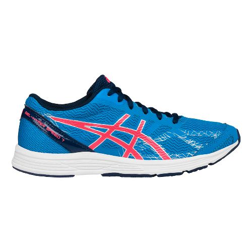 Womens ASICS GEL-Hyper Speed 7 Racing Shoe - Blue/Pink 10.5