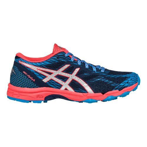 Womens ASICS GEL-FujiLyte Running Shoe - Blue/Silver 9.5