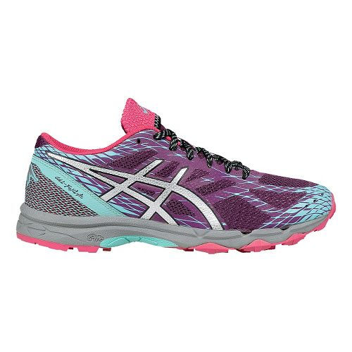 Womens ASICS GEL-FujiLyte Running Shoe - Purple/Silver 8.5