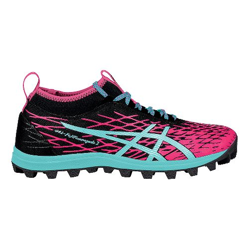 Womens ASICS GEL-FujiRunnegade 2 Running Shoe - Black/Pink 7.5