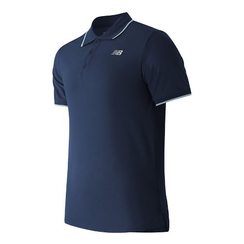 Mens New Balance Challenger Classic Polo Short Sleeve Technical Tops - Aviator S