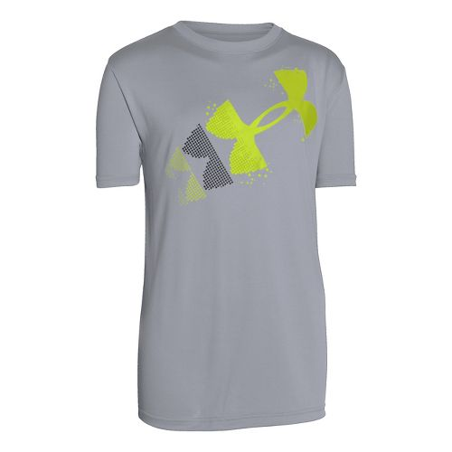 Kids Under Armour�Boys Rising Pixilated Logo Shortsleeve T