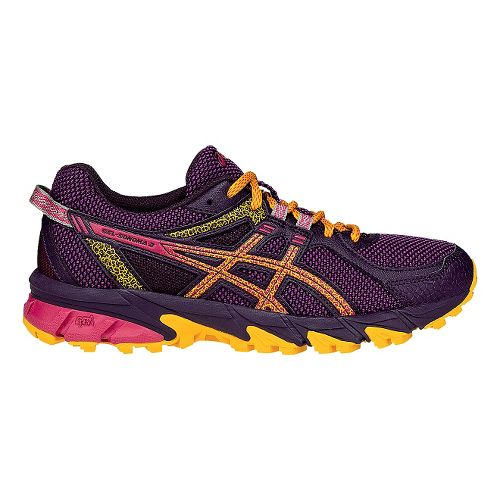 Womens ASICS GEL-Sonoma 2 Running Shoe - Purple/Yellow 9.5