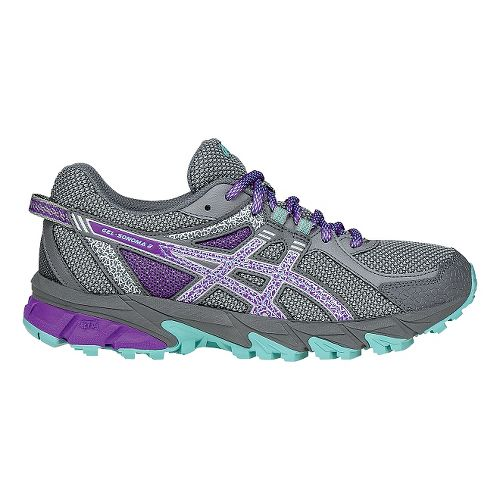 Womens ASICS GEL-Sonoma 2 Running Shoe - Grey/Purple 9.5