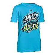 Kids Under Armour Boys Built For Battle T Short Sleeve Technical Tops