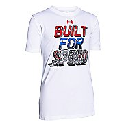 Kids Under Armour Boys Built For Speed T Short Sleeve Technical Tops