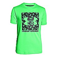 Kids Under Armour Boys Luck of the Logo T Short Sleeve Technical Tops