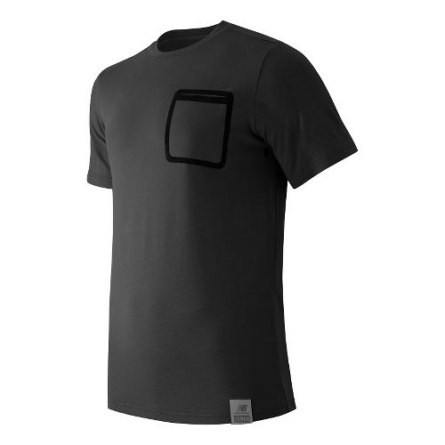 Mens New Balance Push The Past Tee Short Sleeve Technical Tops - Black XXL