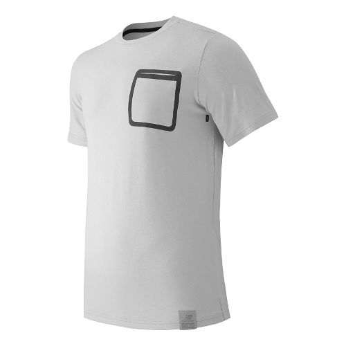 Mens New Balance Push The Past Tee Short Sleeve Technical Tops - White L