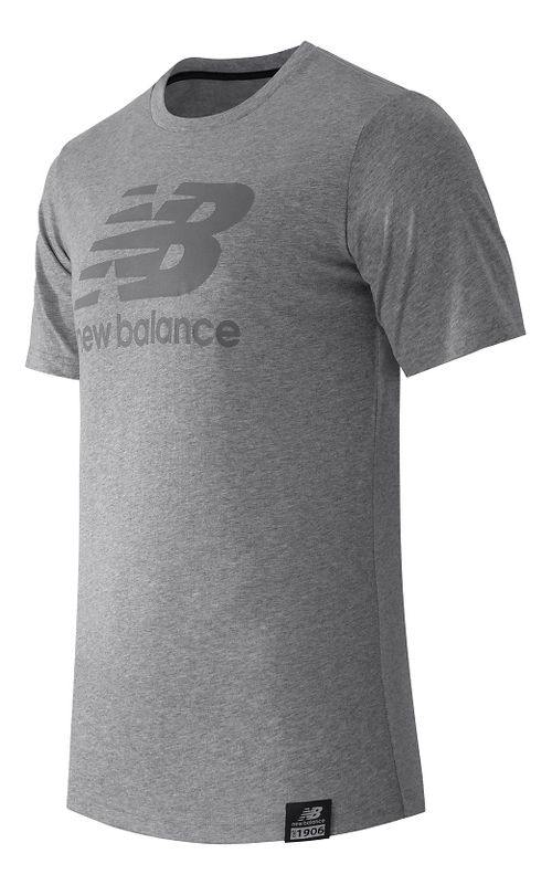 Mens New Balance Essentials Plus Logo Tee Short Sleeve Technical Tops - Athletic Grey M