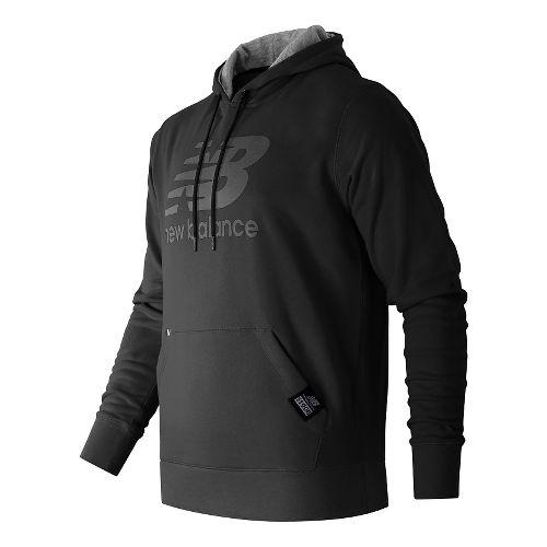 Mens New Balance Pullover Hoodie & Sweatshirts Technical Tops - Black XXL