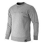 Mens New Balance Crew Neck Hoodie & Sweatshirts Technical Tops