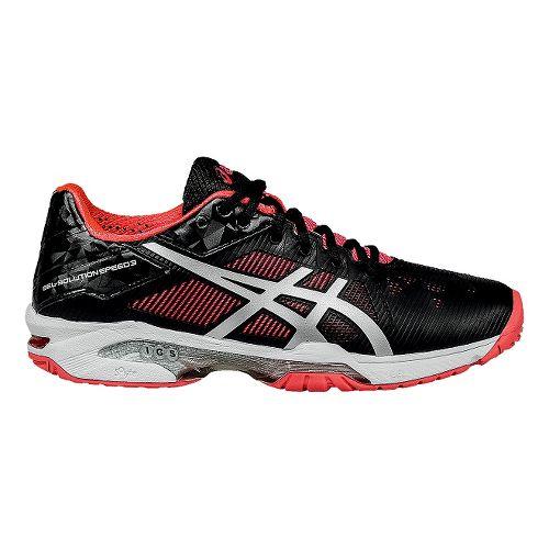 Womens ASICS GEL-Solution Speed 3 Court Shoe - Black/Pink 10