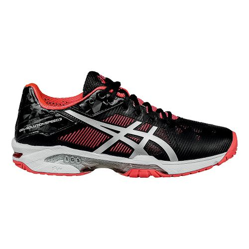 Womens ASICS GEL-Solution Speed 3 Court Shoe - Black/Pink 10.5