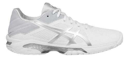 Womens ASICS GEL-Solution Speed 3 Court Shoe - White/Silver 12