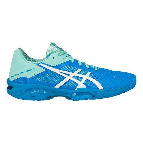 Womens ASICS GEL-Solution Speed 3 Court Shoe - Aqua/White 6