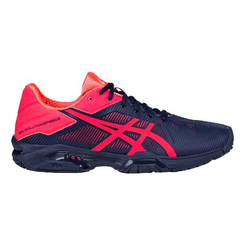 Womens ASICS GEL-Solution Speed 3 Court Shoe - Blue/Pink 7.5