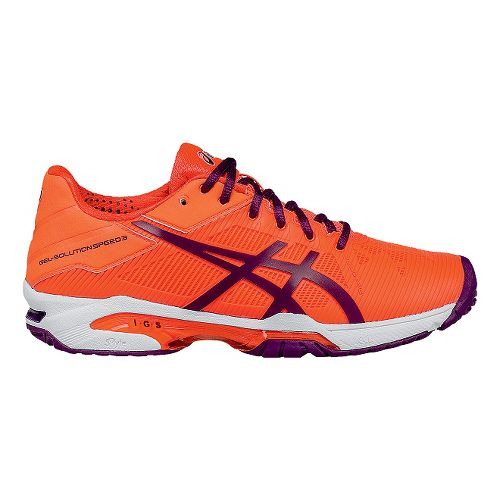 Womens ASICS GEL-Solution Speed 3 Court Shoe - Coral/Plum 10