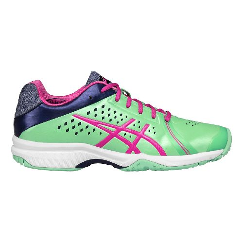 Womens ASICS GEL-Court Bella Court Shoe - Green/Pink 7.5
