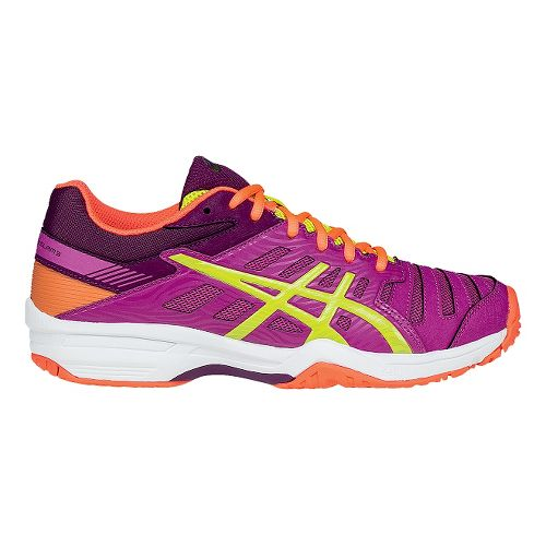 Womens ASICS GEL-Solution Slam 3 Court Shoe - Berry/Lime 10.5