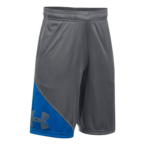 Under Armour Boys Tech Prototype Unlined Shorts - Graphite/Blue YXS