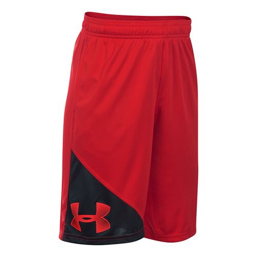 Under Armour Boys Tech Prototype Unlined Shorts - Red/Black YS