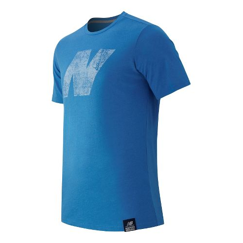 Mens New Balance N Tee Short Sleeve Technical Tops - Sonar Heather M