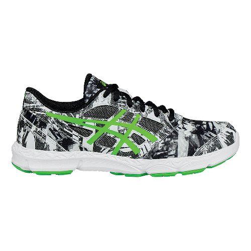 Kids ASICS 33-DFA 2 Running Shoe - White/Green 4.5Y