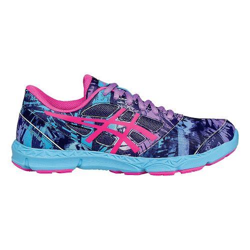 Kids ASICS 33-DFA 2 Running Shoe - Pink/Turquoise 7Y