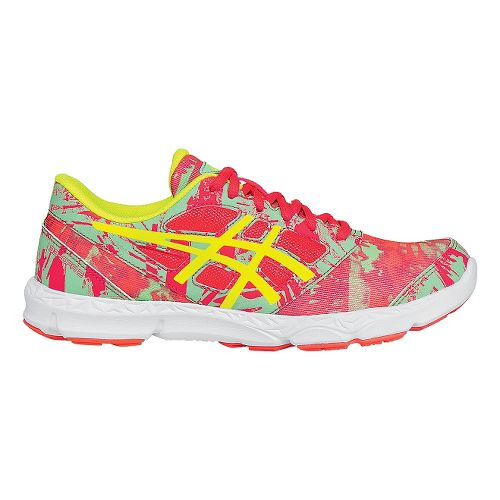 Kids ASICS 33-DFA 2 Running Shoe - Pink/Yellow 6.5Y