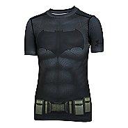 Kids Under Armour Boys Batman Suit Short Sleeve Technical Tops