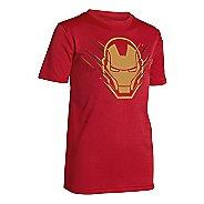 Kids Under Armour Boys Team Iron Man T Short Sleeve Technical Tops