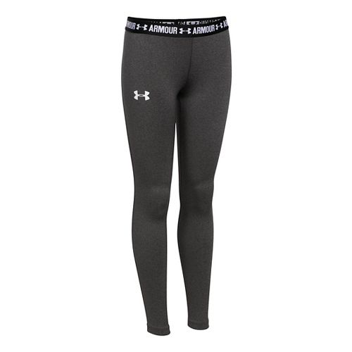 Under Armour Girls Armour Tights & Leggings Pants - Carbon Heather YXL