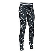 Under Armour Printed Armour Tights & Leggings Pants - White/Stealth Grey YXL