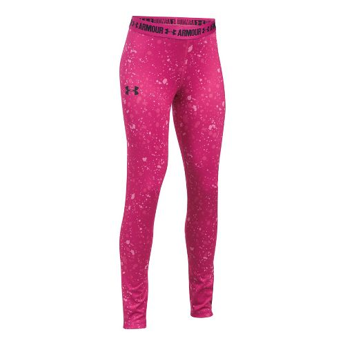Under Armour Printed Armour Tights & Leggings Pants - Tropic Pink YXL