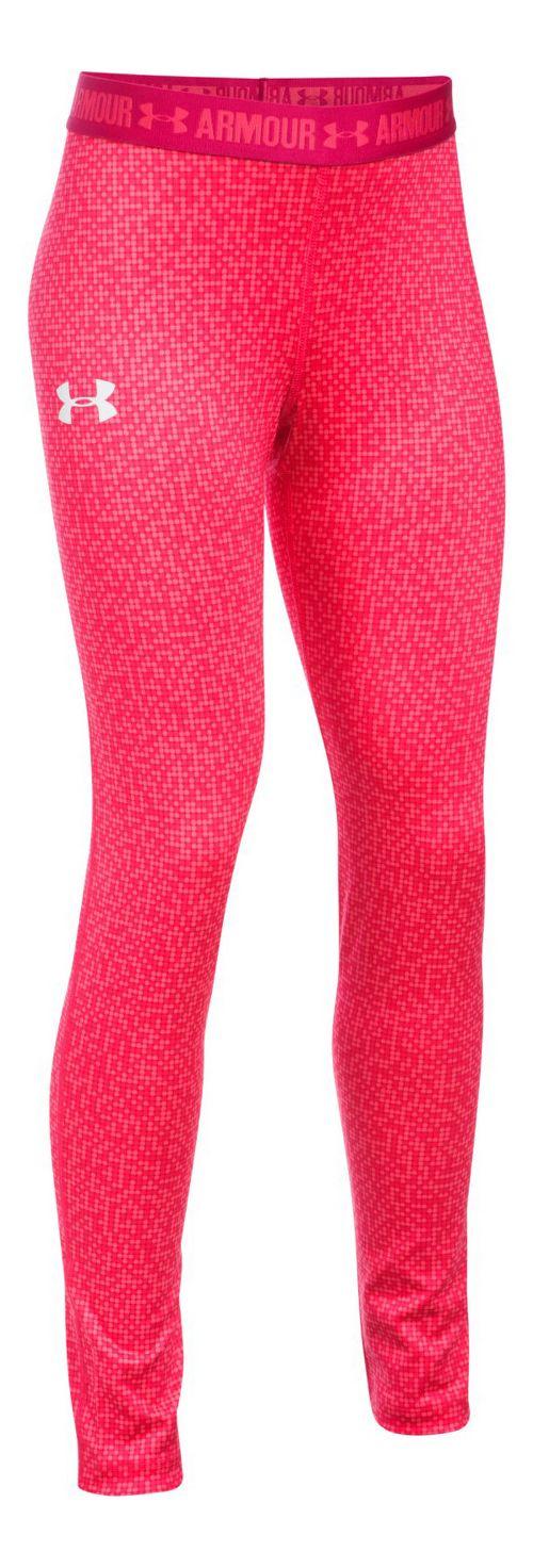 Under Armour Printed Armour Tights & Leggings Pants - Gala/Honeysuckle YL