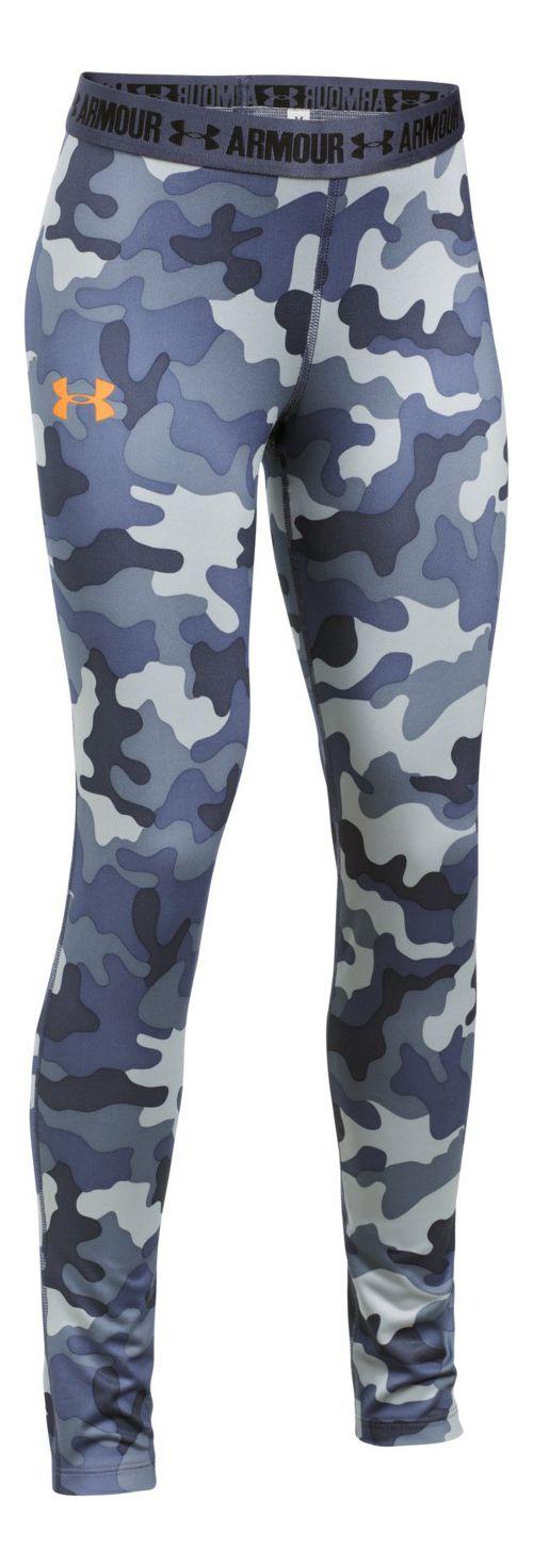 Under Armour Printed Armour Tights & Leggings Pants - Apollo Grey YXL