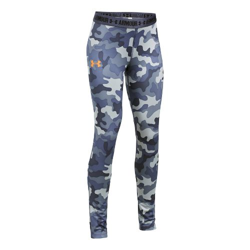 Under Armour Printed Armour Tights & Leggings Pants - Apollo Grey YM
