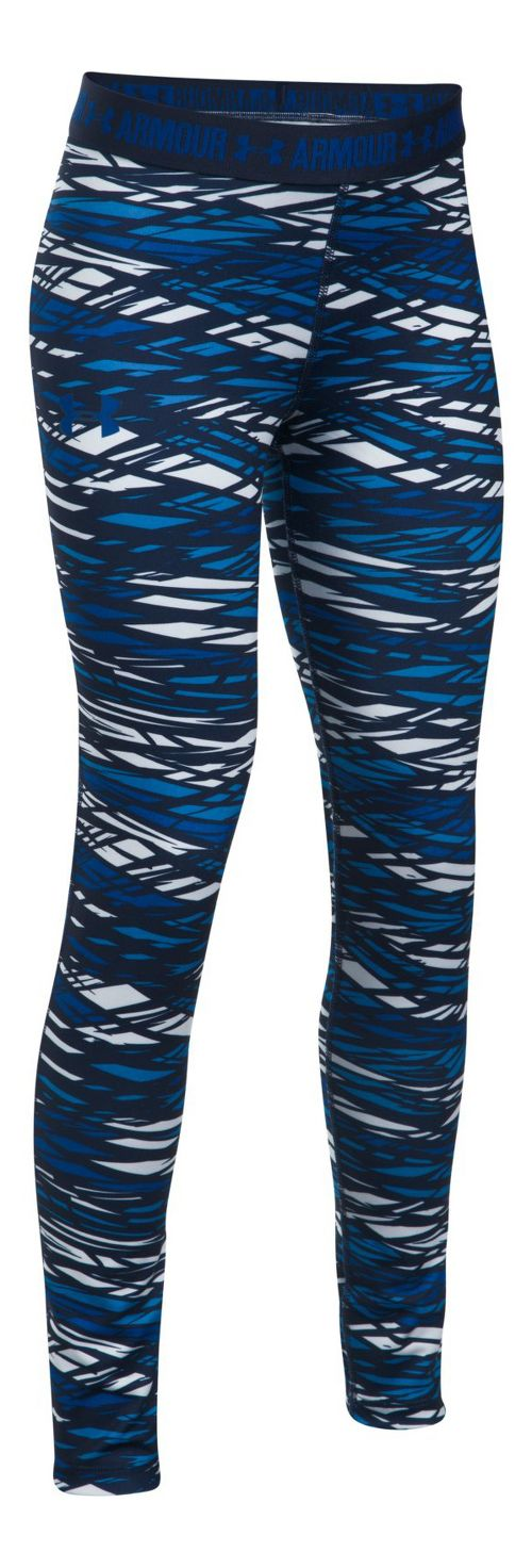 Under Armour Printed Armour Tights & Leggings Pants - Blue/Midnight Navy YXS